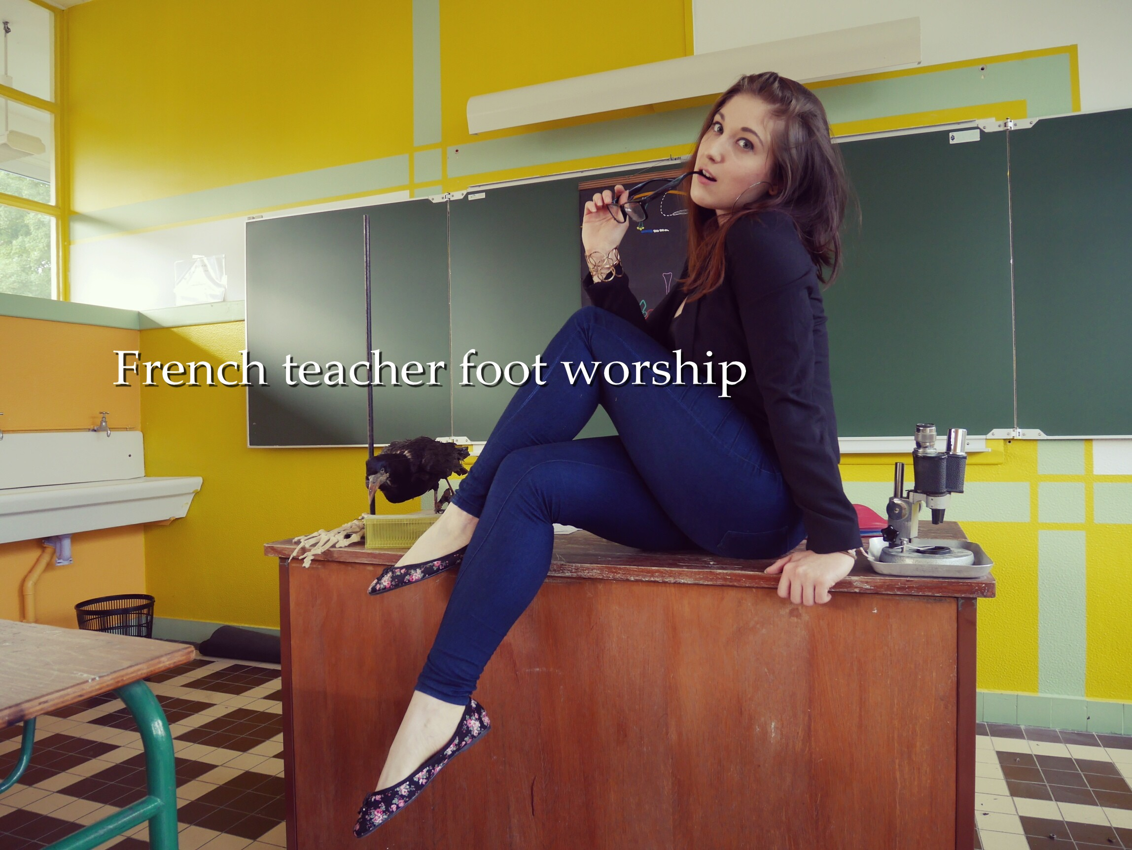 French Teacher Foot Worship