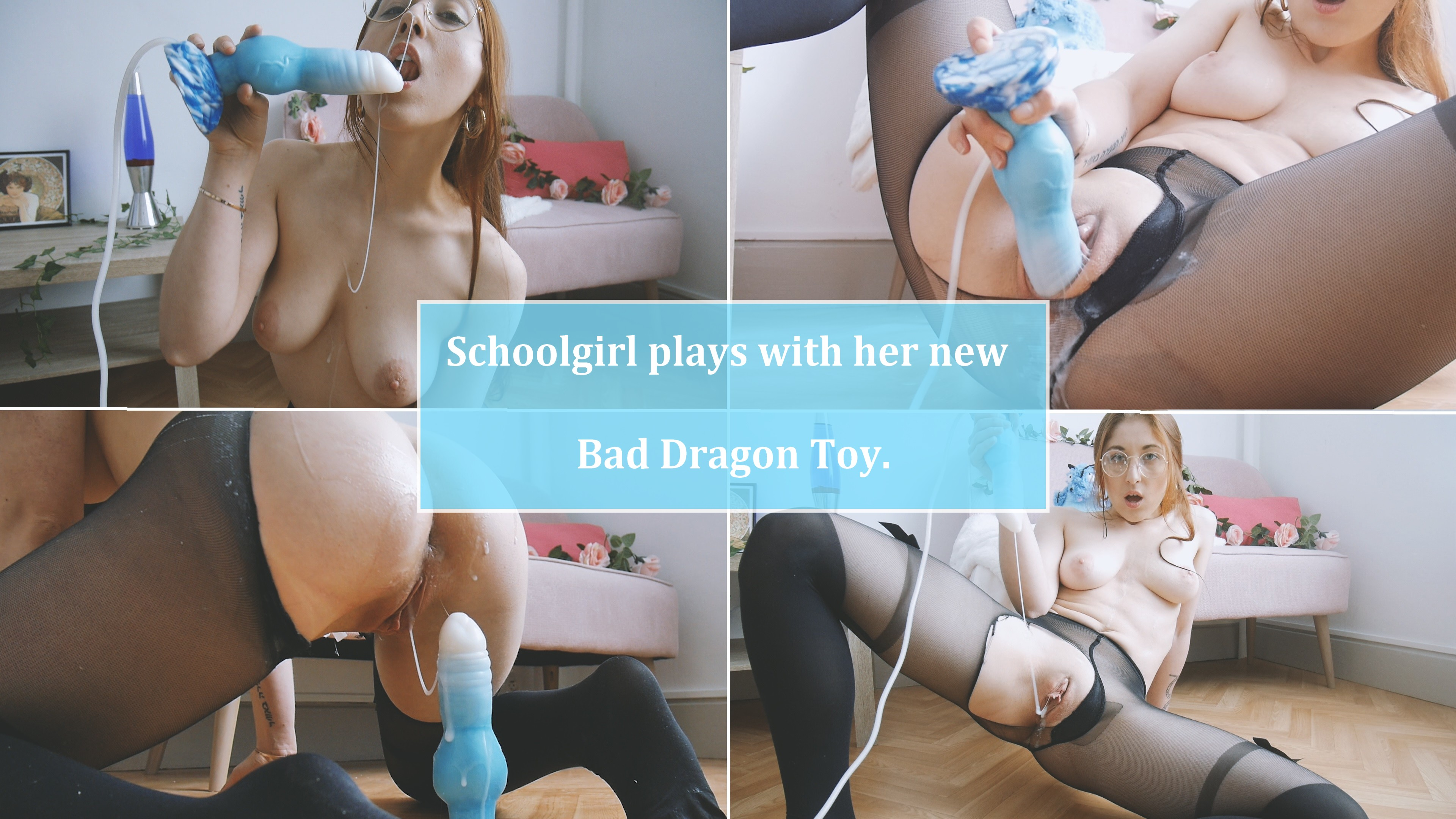 CUMPLAY - Schoolgirl Plays With Her New Bad Dragon